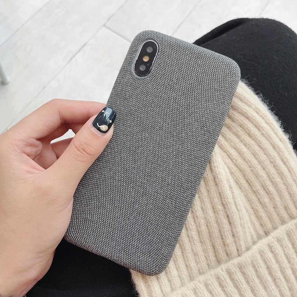 Boucho для iphone Xs MAX XR X XS чехол s крокодиловая текстура чехол для телефона для iphone 11 Pro max 7 8 6 6S Plus Роскошный чехол из искусственной кожи - Цвет: Cloth Dark gray