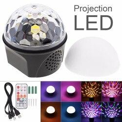 9 kolorów Bluetooth Magic Ball kryształowy głośnik z oświetleniem Disco USB Laser Mini światło stroboskopowe efekt sceniczny światło z pilotem