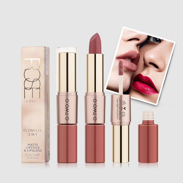 O.TWO.O 12 Colors Velvet Matte Lipstick Sexy Makeup Long Lasting Pigment  Moisture Cosmetic Waterproof smooth Lips Stick TSLM2