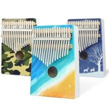 KERUS Kalimba 17 клавиш Дерево Портативный палец пианино подарки для детей и начинающих пианино Профессиональный окрашенный инструмент цвет