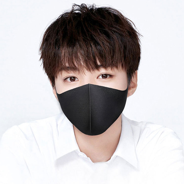 1pcs Kpop Cotton Black Mask Mouth Face Mask Anti PM2.5 Dust Mouth Mask korean Women Men Child  Earloop Mask Fabric Face Mask 2