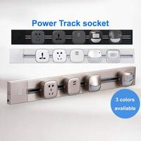 Wireless Power Track Socket Mobile Rail Smart Socket Power Extension Socket Panels for Walls Socket with USB/tee in socket(0.6M)