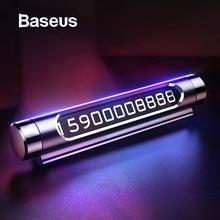Baseus Luminous Car Temporary Parking Card Holder Car Styling Mobile Ph