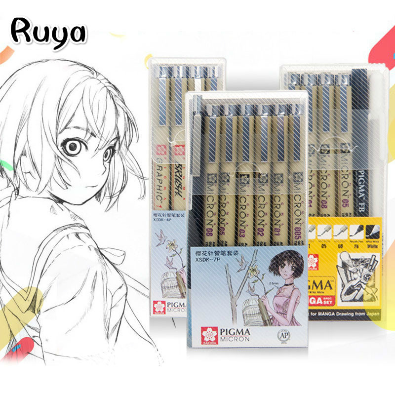 Copic Markers Set Pigma Micron Pen Soft Drawing Painting Waterproof Pen Brush Art Supplies Markers Stabilo Manga Sakura Tombow