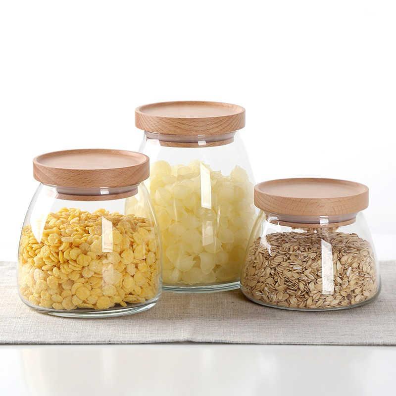Bamboo Tube Storage Canisters Kitchen Coffee Sugar Tea Preserving Storage Jar
