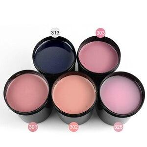 Image 5 - מסמר דק Builder ג ל 8 oz 225 g הארכת צרפתית ציפורניים 25 צבעים משרים כבוי UV led לכות הסוואה נייל ג ל טיפים מייבש
