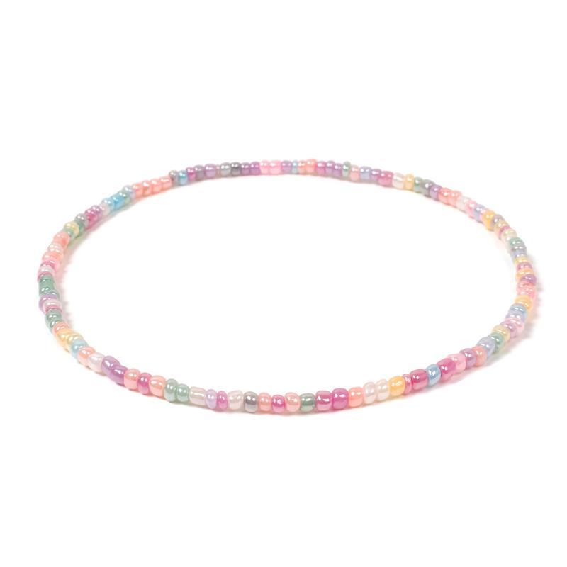 1pc Colorful Sweet Women Choker Necklace Creative Fashion Bohemian Beaded Necklace Bead Choker Jewelry Accessories