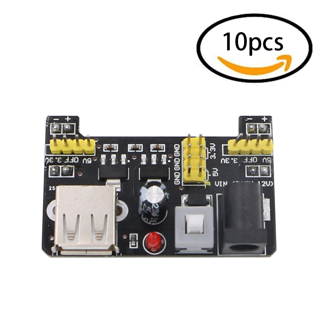 10PCS Breadboard Power Module Adapter Shield 3.3V/5V For Arduino