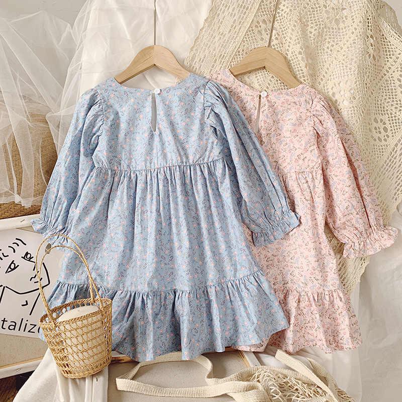 2020 Autumn New Arrival Girls Long Sleeve Floral Dress Kids Korean Design Dress Girl Dresses Aliexpress