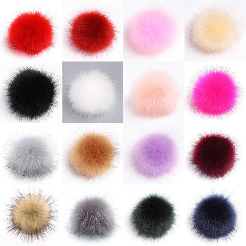 Big Size 10/15cm DIY Faux Fur Pompom Bont Pom Poms Ballen Natuurlijke Bont Pompon Voor Vrouwen Hoeden tas Schoenen Accessoires Craft supplies