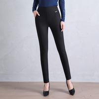 Spring New Style WOMEN'S Pants Slim Fit Slimming Outer Wear Leggings High waisted Ultra stretch Skinny Pants Fat Mm Large Size L