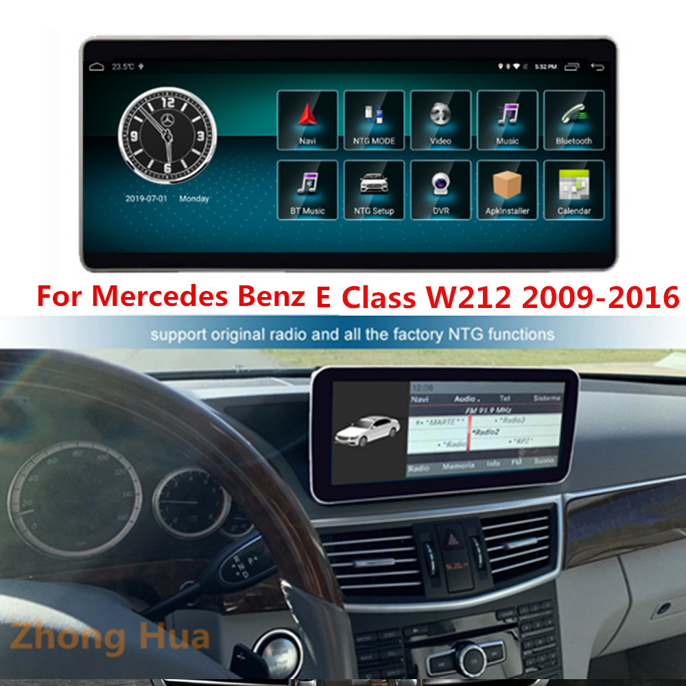 Android 8.1 Car GPS Touch Screen 64GB For Mercedes Benz E Class W212 2010-2012