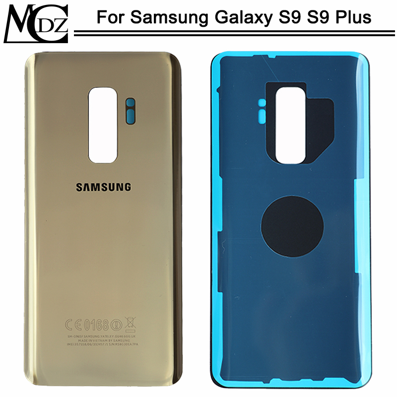 Back Battery Cover For Samsung Galaxy S9 Plus S9+ G965 SM-G965F G965FD S9 G960 SM-G960F G960FD Back Rear Glass Housing Case