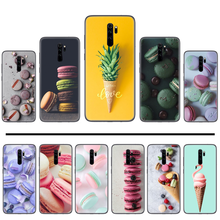Ice Cream Macarons Cake PINK Heart Lite Cover Black Soft Shell Phone Case For Xiaomi Redmi Note 4 4x 5 6 7 8 pro S2 PLUS 6A PRO(China)