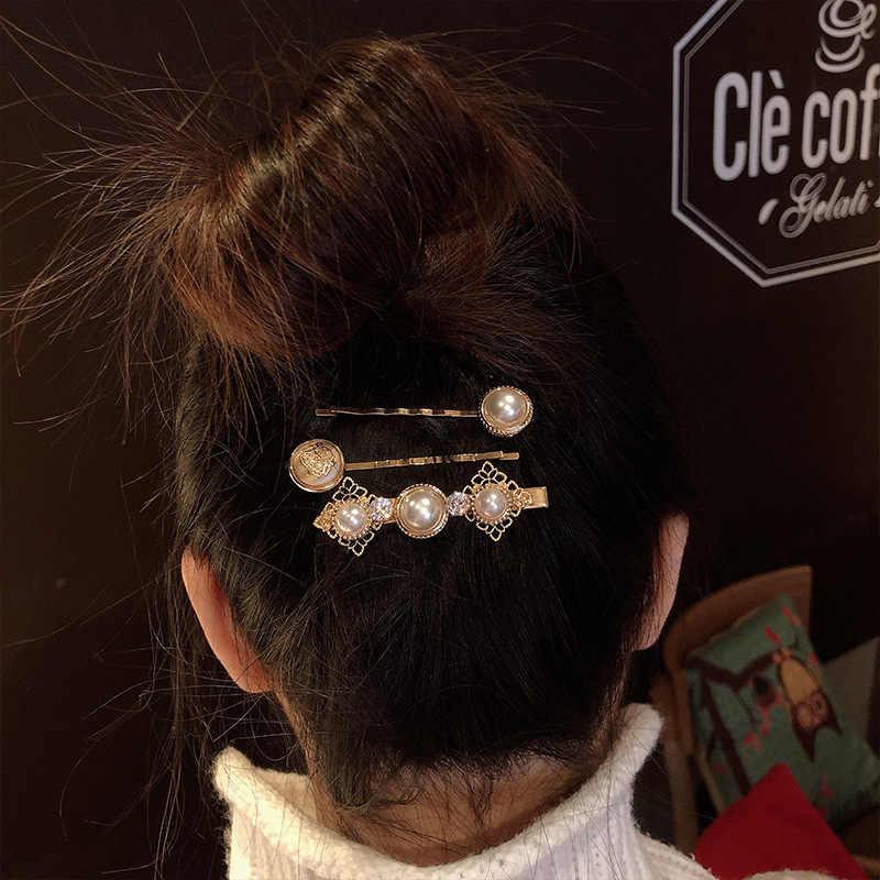 1 סט פרל שיער קליפ בנות אלגנטי שיער סיכת מקל סיכת שיער סטיילינג אביזרי עבור נשים בנות 2020 חדש אופנה נשים