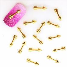 Золотые дизайнерские палочки для дизайна ногтей украшения стрелы