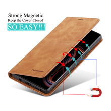 Magnetic Leather Wallet Case for Samsung