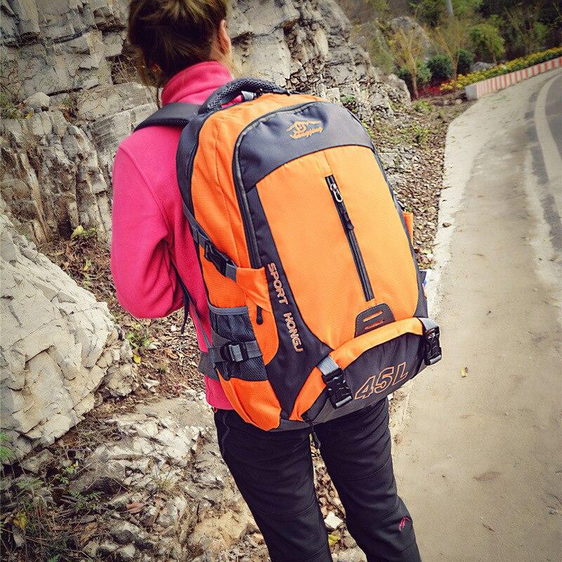 Shoulder Mountaineering Bag Travel Outdoor Backpack Men's Travel Large Backpack Outdoor Mountaineering Bag Waterproof Wear-Resis