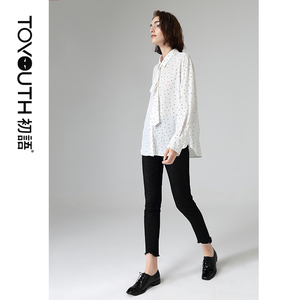 Image 3 - Toyouth Fashion Women Polka Dot Blouses And Shirts Autumn Casual Turn Down Collar Long Sleeve Chiffon Blouse
