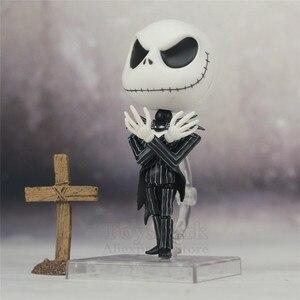 Image 2 - Le cauchemar avant noël Jack Skellington squelette 10cm mignon figurine avec casquette 1011 jouets poupée
