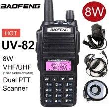 Walkie Talkie 8W Baofeng UV-82 Two Way CB Ham Radio Transceiver VHF UHF Scanner Radio Station UV 82 Transmitter for Hunting