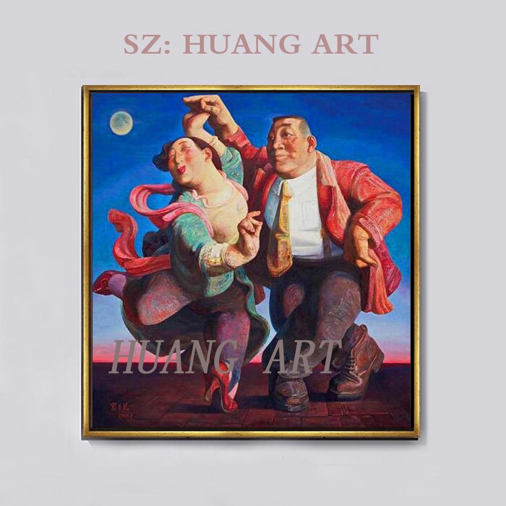 Personnage de haute qualité de l'art moderne peint à la main peinture de la décoration murale du salon belle peinture chinoise célèbre
