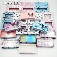 20pcs 도매 나비 광장 거짓 속눈썹 포장 상자 가짜 3d 밍크 속눈썹 상자 가짜 cils 자기 케이스 속눈썹 빈