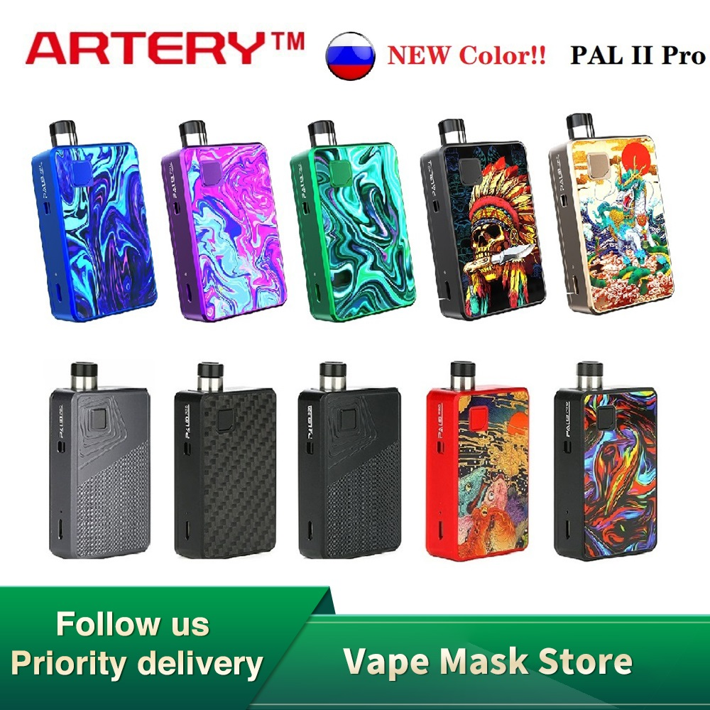 NEW Original Artery PAL II / PAL 2 Pro Pod Kit With 1000mAh Battery & 3ml Pod Cartridge E-cig Vape Kit Vs Drag Nano / Vinci X