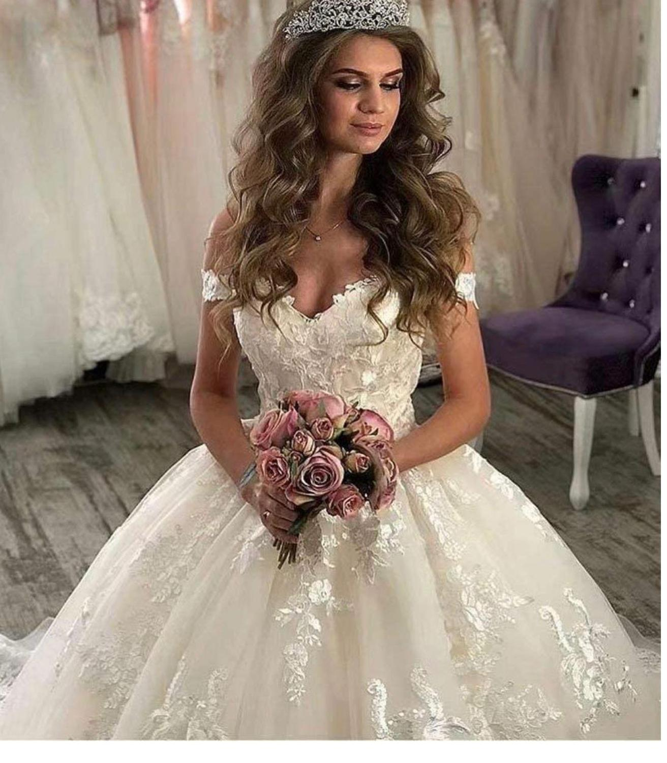 Image 2 - Eslieb custom made ball gown lace appliques wedding dress 2020 wedding dressesWedding Dresses   -