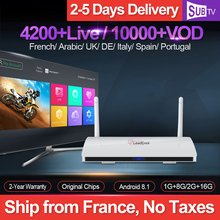 Leadcool SUBTV 4K IPTV France Box Android 8.1 RK3229 with 1 Year IPTV Subscription Arabic French Belgium Netherlands Spain IP TV 1 year subtv iptv code leadcool q9 box french arabic iptv subscription 4k h 265 rk3229 smart ip tv box italian portuguese iptv