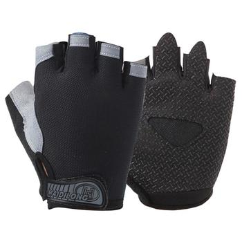 Half Finger Cycling Gloves with Absorbing Sweat Design for Men and Women Bicycle Riding Sports Accessories-black Breathable