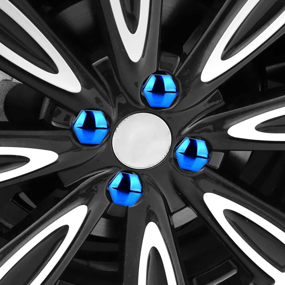 17mm 20 pieces tampas de proteção tampas de porca de roda de carro anti-ferrugem auto hub parafuso de cobertura de pneu de carro porca parafuso decoração exterior-2