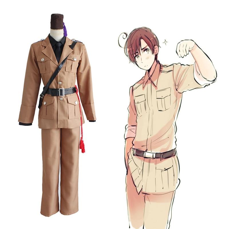 Anime Hetalia Axis Powers Cosplay Costumes Romano Lovino Vargas Uniform Cosplay Costumes Halloween Men Suits APH Cosplay Cloth