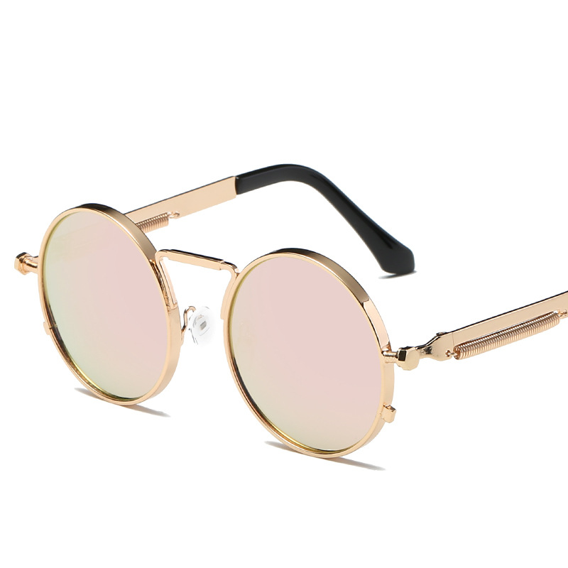 MOLNIYA Vintage Men Sunglasses Women Retro Punk Round Metal Frame Colorful Lens Sun Glasses Fashion Eyewear Gafas sol mujer