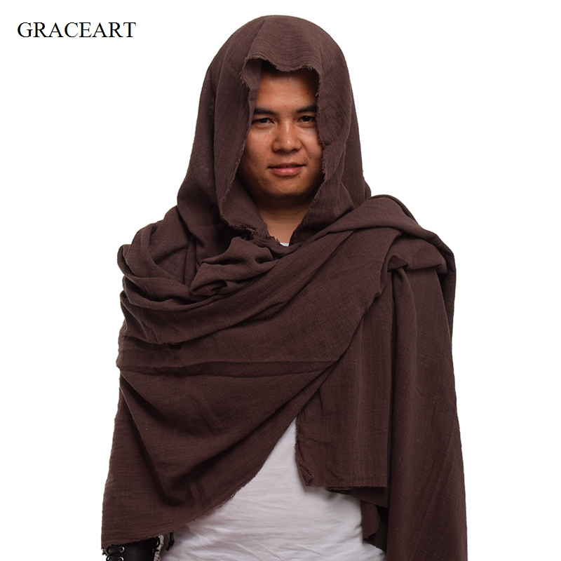 Post Apocalyptic Shawl Shaman Cowl Medieval Costume Hood Scarf Sash
