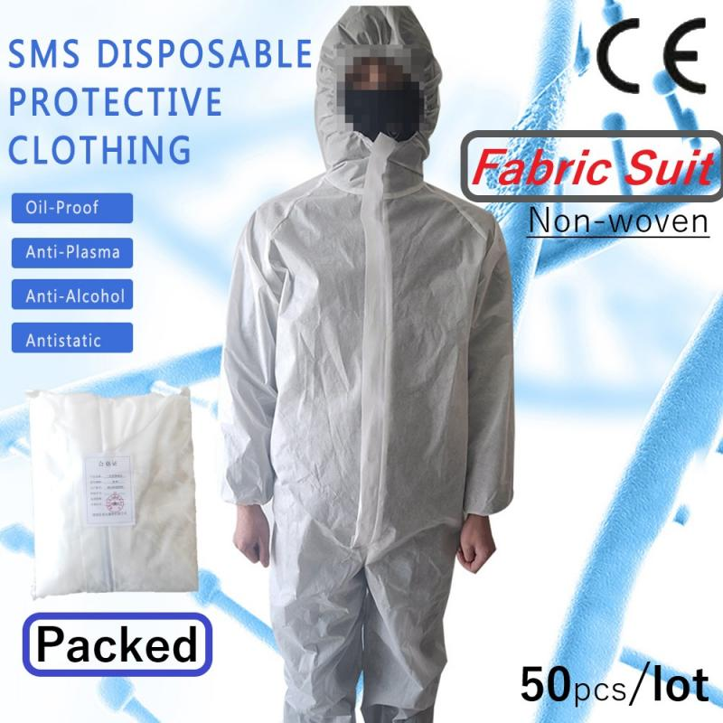 Disposable Protective Non-woven Fabric Suit Isolation Suit Anti-splash Anti-droplet For Nurse Sanitation Workers Safety Clothing