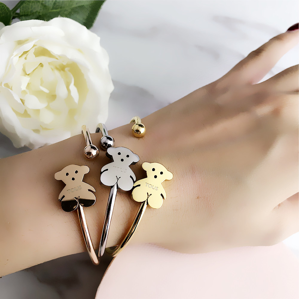 NEW TOUSES Bear Jewelry Fashion Hot Pendientes Alloy Letter Bracelet Chain Charm Bracelet Female Personality Joyas Anillo