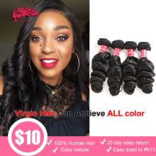 Virgin Brazilian Loose Wave Bundle 10-30 Inches Human Hair Weave Ali Queen Hair 1pc /3pcs / 4pcs Lot Unprocessed Hair Extensions