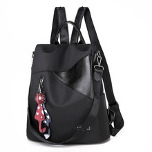 Ladies Zipper Shoulder Bags Fashion Backpack for Women Waterproof PU Leather Student  Backpacks Bag 9.2