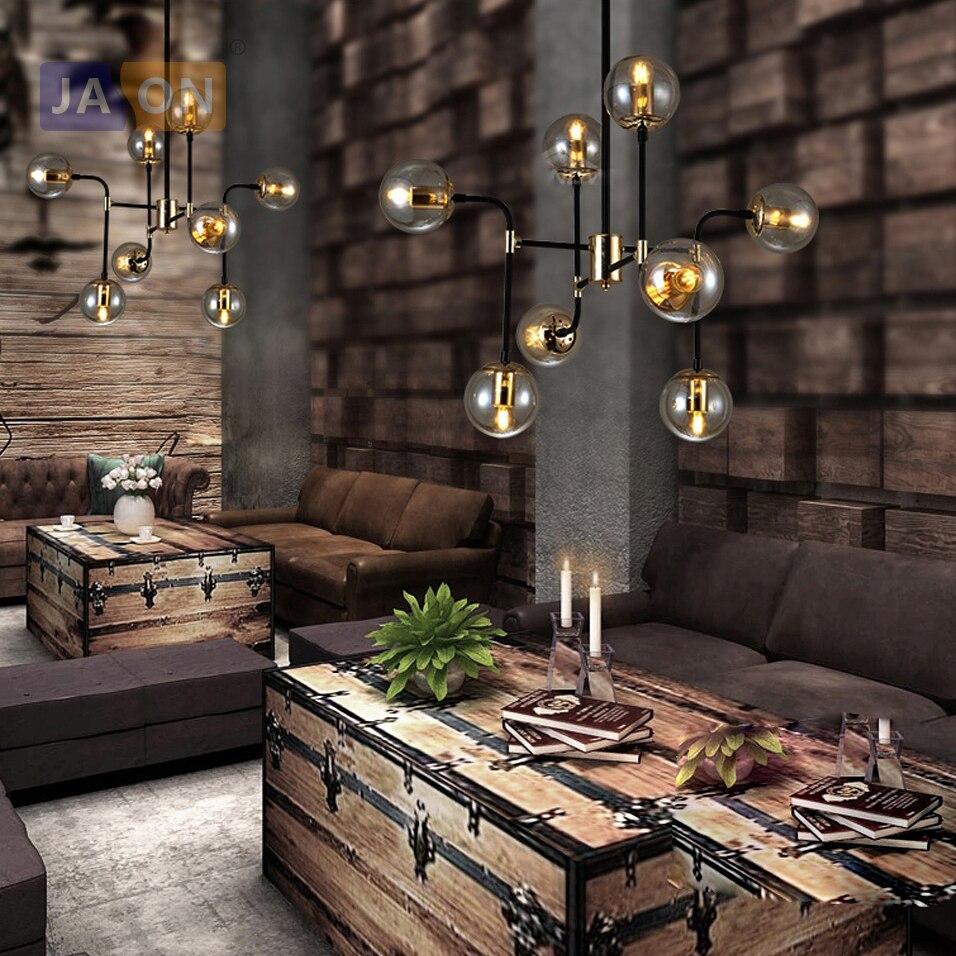 LED e27 nordique fer verre design magique haricot lampe à LED lumière LED. Suspension. Suspension. Suspension pour salle à manger