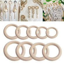 Natural Wooden Ring Unfinished Wood Circles Bracelet Jewelry Making DIY Crafts Accessories unfinished wood printing africa girl round drop earrings wooden african hiphop tribal handmade diy jewelry natural accessories