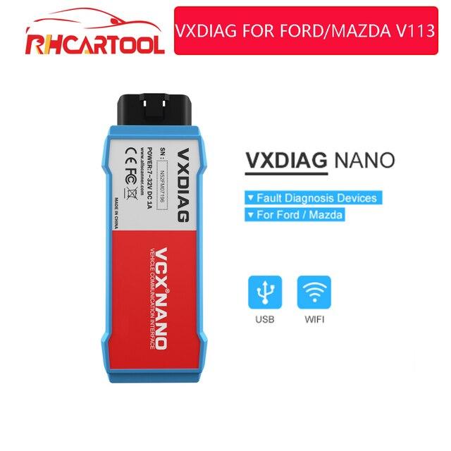 VXDIAG VCX NANO For Ford For Mazda OBD2 Car Diagnostic Tool 2 in 1 IDS V115 WiFi automo Obd2 Scanner PCM, ABS PK fvdi j2534