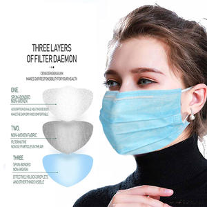 Anti-Dust-Mask Daily-Protective Melt Blown Cotton 500pcs Three-Layer-Mask Dust-Proof