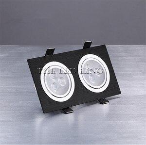Image 4 - Dimbare Led Downlighters 18W30W AC85 265V Vierkante Zilver Zwart Led Plafondlamp Down Light Voor Keuken Thuis Kantoor Indoor Verlichting