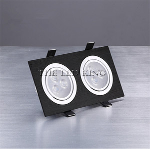 Image 4 - ניתן לעמעום LED Downlights 18W30W AC85 265V כיכר כסף שחור LED תקרת דאון מנורה מטבח בית משרד מקורה תאורה