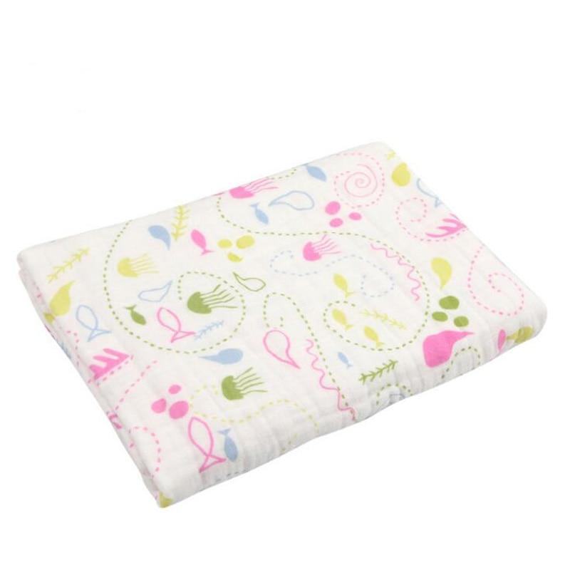 Купить с кэшбэком Baby Blankets muslin wraps Newborn blanket  Stroller Printing baby Summer Swaddling bamboo bath towel Summer