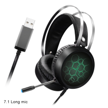 Stereo Gaming Headset Luminous Noise Cancelling Ear Headphones with Mic for PC Computer OUJ99