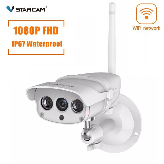 VStarcam C16S WiFi IP 카메라 야외 1080P 보안 카메라 방수 IR 밤 비전 모바일 비디오 감시 CCTV 카메라