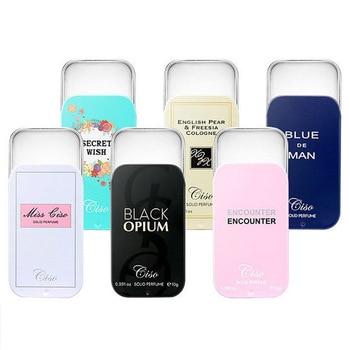 1PC Women Men Solid Balm Portable Case Solid Perfume Fragrances Mild Long Lasting Aroma Deodorant Fragrance Body Antiperspirant 1