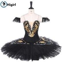 Adult custom-made platter tutu women black swan professional ballet stage costume BT9258